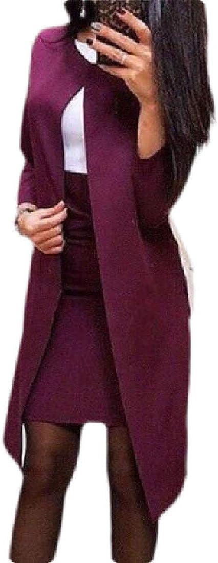 Women's 2 Piece Business Skirt Suit Set Office Lady Slim Blazer and Skirt