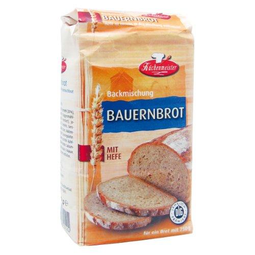 Bielmeier-Küchenmeister Brotbackmischung Bauernhof Roggenmischbrot, 15er Pack (15 x 500g)