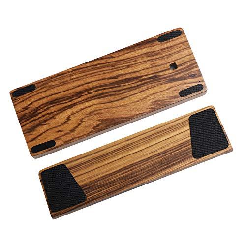 GH60 Handballenauflage aus massivem Holz, für 60 % mechanische Mini-Gaming-Tastatur, kompatibel mit Poker2 Pok3r Faceu 60 (Zebraholz)