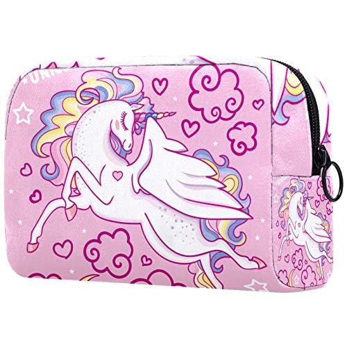 Bolso de cosméticos para mujer, bolsa de maquillaje, bolsa organizadora de artículos de tocador, bolsa con cremallera, 7.3 x 3 x 5.1 pulgadas, tiburones mar océano