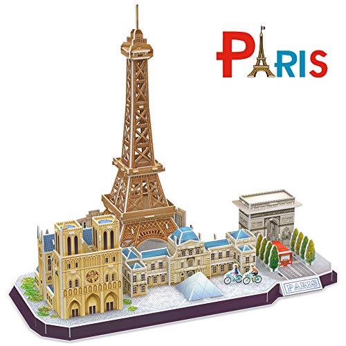 CubicFun Puzzle 3D Paris Torre Eiffel CityLine Rompecabezas