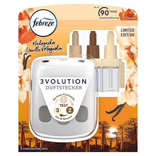 Febreze 3Volution Duftstecker (20 ml) Vanille, Starterset, Raumduft und Lufterfrischer