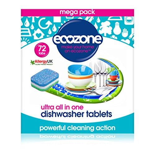 Ecozone Dishwasher Tablets Ultra 72 tablet (Case of 6)