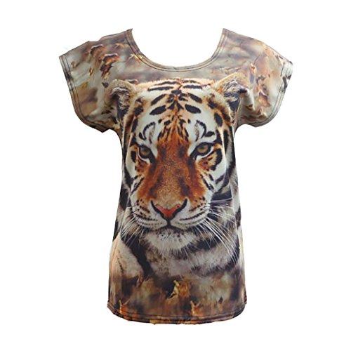 Nuevo Animal de la Cabeza del Tigre Las Mujeres del Verano Forman la C