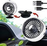 Ventilador USB montado en la ventilación de aire del coche Mini ventilador eléctrico para la ventilación de aire del coche montado en 360° giratorio coche auto potente ventilador