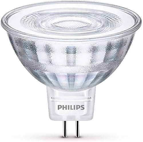 Paquete de 10 bombillas LED Philips MR16 12 V 5 W = 35 W GU5.3 2 pines 840 blanco frío CorePro LED lámpara de foco