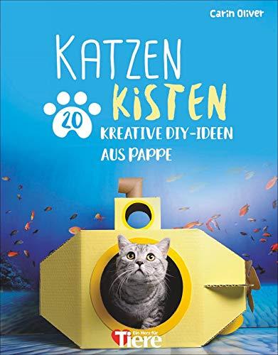 Katzenkisten. 20 kreative DIY-Ideen aus Pappe. Kreative Behausungen aus Pappkartons für Katzenfans und ihre Stubentiger schnell und einfach selbst gebastelt.