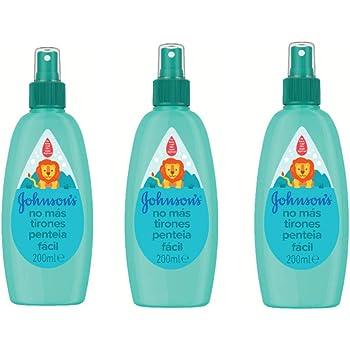 Johnsons Baby - Acondicionador spray No Más Tirones para niños, 3 x 200 ml: Amazon.es: Belleza