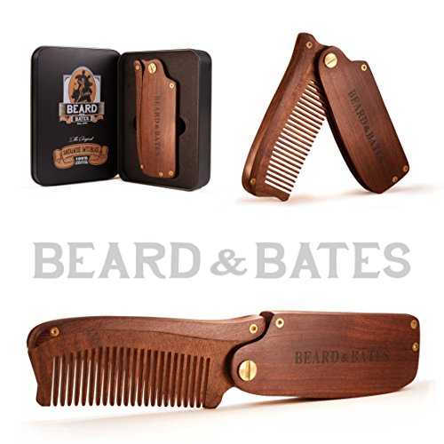 Beard & Bates | The Sandalwood Switchblade - The Original Folding Wooden Beard Hair Comb | Boutique, Artisan Crafted, Los Angeles