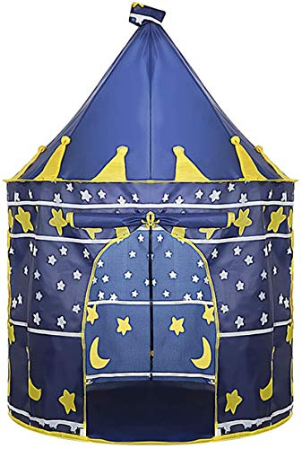 WYZQ Tent for kids play tent Toys Play Tent Foldable summer Princess castle tent Indoor and Outdoor Games Beach (Blue)
