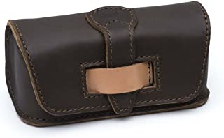 Saddleback Leather Co. Hard Protective Full Grain Leather Sun or Reading Glasses Case Includes 100 Year Warranty