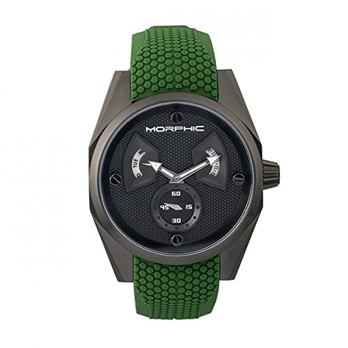 Morphic M34 Series mph3408 Men S WATCH w/Day/Date – Black/Green