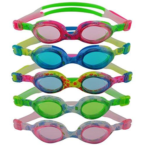 #DoYourSwimming »Flippo« Kinder-Schwimmbrille, 100% UV-Schutz + Antibeschlag. Starkes Silikonband + stabile Box. TOP-MARKEN-QUALITÄT! AF-1700S, Mehrfarbig (Grün/Weiß)