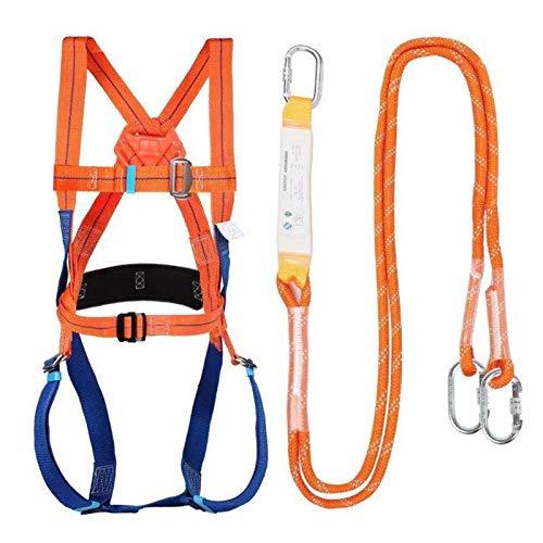 Absturzsicherung, Fallschutz-Set, Auffanggurt mit Bandfalldämpfer Gurt, Vollkörper Auffanggurt Fallschutz, Fallsicherung Schutzausrüstung, Zubehör für Handwerkzeuge