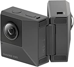 Insta360 EVO, 180 3D and 360 Foldable Camera, 5.7K Videos + 18MP Photos, with FlowState Stabilization, Good for Family and Travel