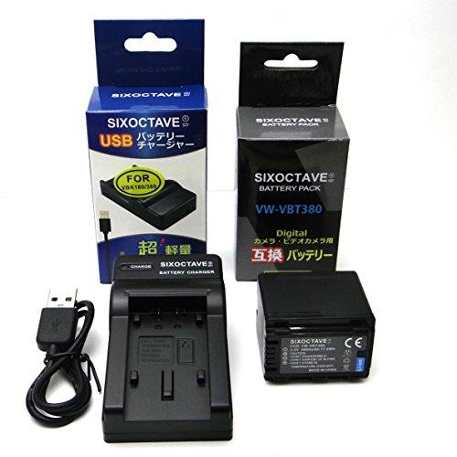 VW-VBT380-K VW-VBT380 互換バッテリー&充電器VW-BC10-Kパナソニック HC-V550M HC-V720M HC-V750M HC-VX980M HC-W570M HC-W580M HC-V360M HC-V480M HC-W585M HC-WX990M HC-WXF990M HC-WX995M HC-VX985M HC-WX1M WZX1M HC-VX1M VZX1M
