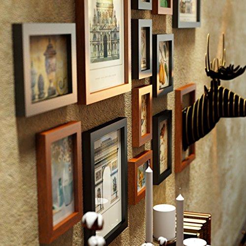 12 Marcos múltiples de la Foto fijan el Dormitorio Retro del Estilo Americano Sofá Pared del Comedor Composición Creativa Marco de la Foto Pared de la Foto (Color : #2)