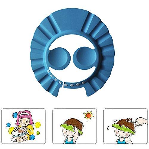YUKAKI gorro de champú para niños protección de champú para niños de 0 a 9 años, gorro de baño impermeable resistente al agua gorro de ducha para niños