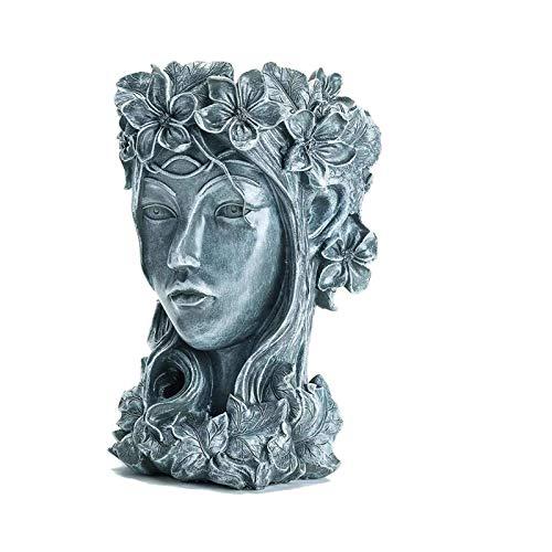 Flower plate succulents flower pot goddess flower pot creative statue dried flower vase small fresh outdoor flower pot garden