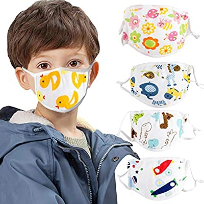 Kids Children Cotton Face protection Cartoon Adjustable 5 Layers Anti Haze Dustproof Mouth