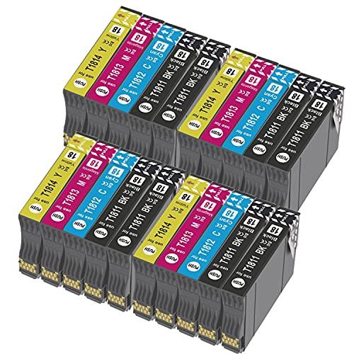 Teland - Cartuchos de tinta compatibles con Epson 18XL para Expression Home XP-322 XP-215 XP-205 XP-225 XP-305 XP-325 XP-422 XP-405 XP-415 XP-425 (8 negros, 4 cian, 4 magenta y 4 amarillo)
