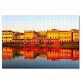 Italia Río Arno Toscana Rompecabezas para Adultos, 300 Piezas, Rompecabezas de Madera para niños, Regalo de Viaje, Recuerdo, 16.5 × 12 Pulgadas