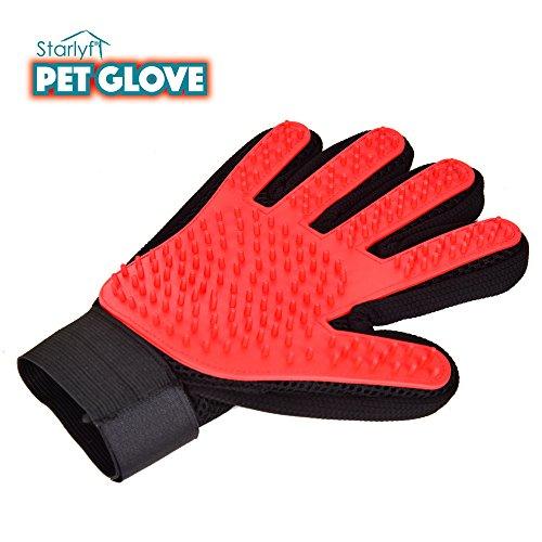 Venteo Pet Glove–Guanto di pulizia a 5dita per animali da compagnia–Ideale per i cani e gatti–Funziona su Peli corti, lunghi e ricci