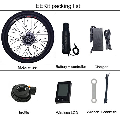 ELECYCLES Front Wheel Electric Bike Conversion Kit EEKit 36V250W with Only Two Cables