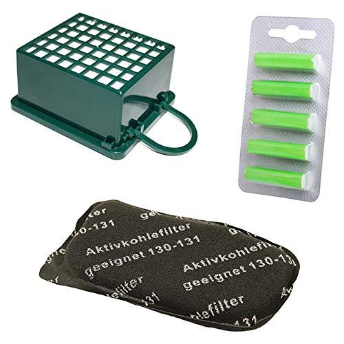 PRODUCT2SELL Juego de filtros HEPA + filtro de carbón + 5 ambientadores adecuados para Vorwerk Kobold VK130 SC, VK130, VK131, VK 130, 131