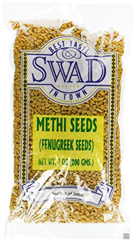 Swad Fenugreek (Methi) Seeds 7oz- Indian Grocery,spice