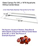Blue Spotted Glass Canopy Single Piece for Aquariums Without Center Braces (for Tank Without Center Brace, 36' L x 18' W)