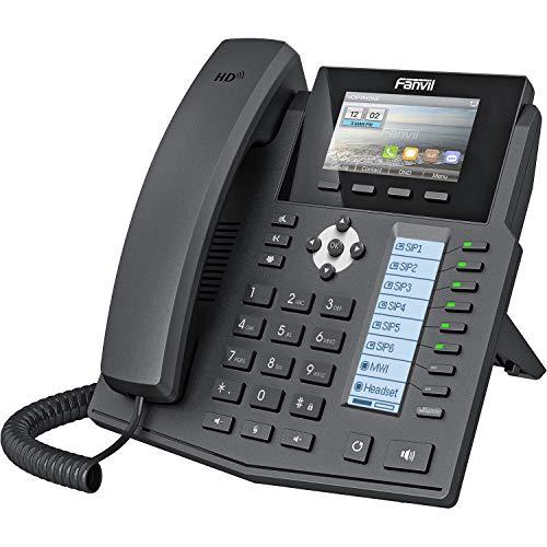 Fanvil X5S Cornetta cablata 6linee LCD Nero telefono IP