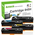 Aztech 4PK High Yield Compatible for Canon 045 045H Canon Imageclas MF634cdw Canon Imageclass MF632cdw Toner Cartridge 045H for Canon mf634cdw mf632cdw Canon lbp612cdw Toner Ink Laser Printer