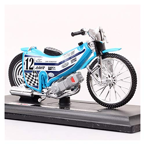 seductive GF 1:18 Scales Mini No.12 Rider Speedway Motocicleta Modelo Modelo Dirt Racing Bike GP Diecasts & Toy Vehicle Model CollectiBl GJF (Color : Speedway Motorcycle)