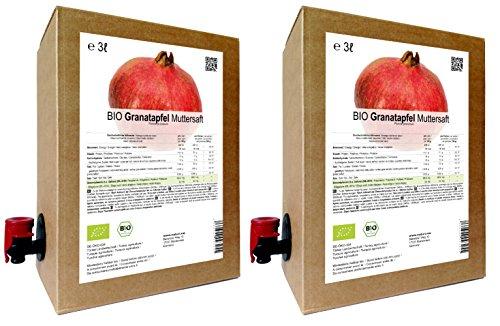 BIO Granatapfel Muttersaft - 100% Direktsaft 6 Liter ( 2 x 3 Liter )