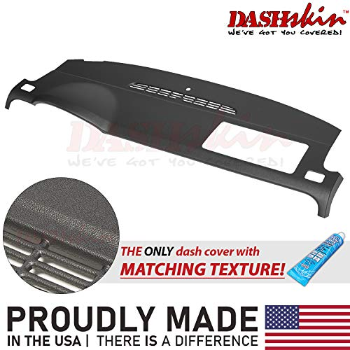 DashSkin Molded Dash Cover Compatible with 07-14 GM SUVs w/o Dash Speaker in Ebony (USA Made)