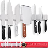 Premium 17 Inch Stainless Steel Magnetic Knife Holder – Professional...