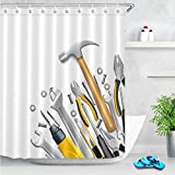 liuweidedian Shower Curtain Family Tools Bathroom partition Curtain 3D Digital Printed Polyester Waterproof Antibacterial Home Decoration Creative 200x200cm