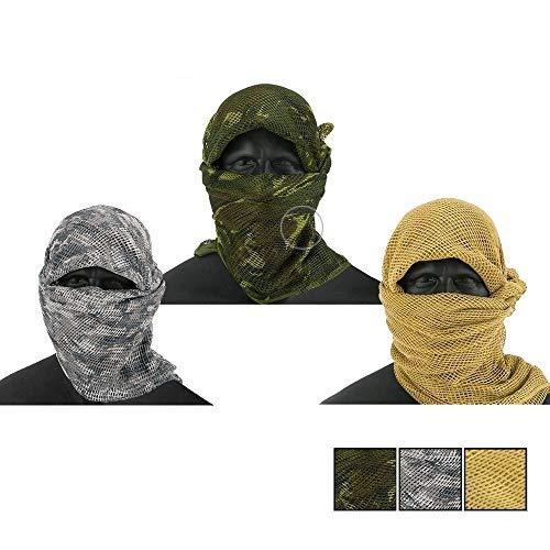3 Pack Tactical Sniper Veil - Urban, Woodland Camo, Desert Tan for...