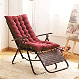 Uheng Indoor Outdoor Patio High Seat Back Chair Cushion for Rocking Chair with 6 Ties, Thick Padded Chaise Lounger Swing Bench Cushion Loveseat Recliner Pads Mat Garden