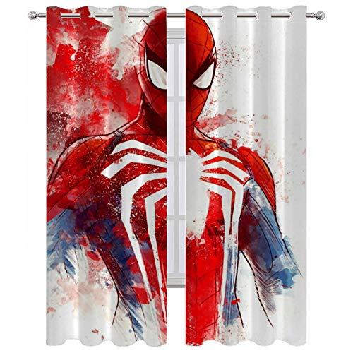 SSKJTC Room Darkening Curtains Spiderman 3 Pass Microfiber W63 x L45 Inch
