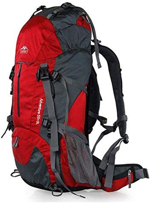 Lounayy Bergsteigenbeutel Im Freiensporttourismus Der Kletternden Skirucksack Kampierend Multi Colour Wasserdicht Wandert schwarz (Farbe   Rot, Größe   One Größe)