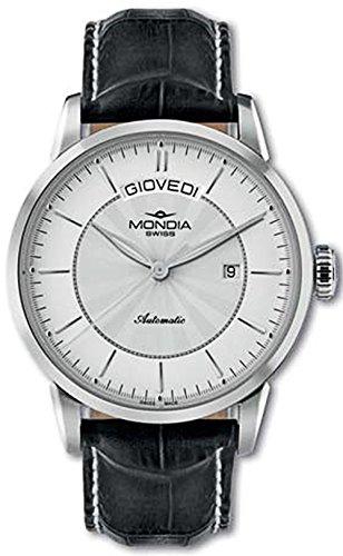 Mondia swiss classic orologio Uomo Analogico Automatico con cinturino in Pelle di vitello MS 656-1SL-CP