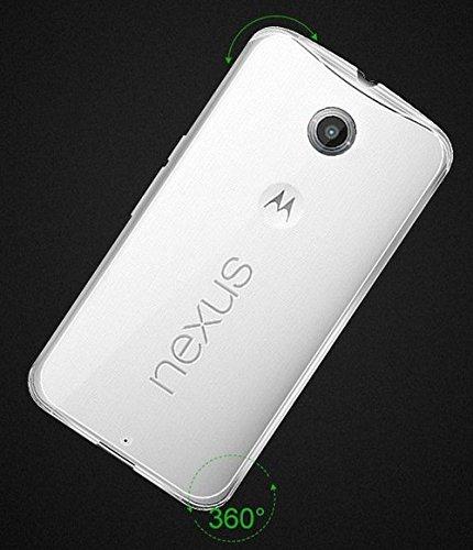 tomaxx Motorola Nexus 6 Ultra Slim Super dünn 0,6mm Schutzhülle TPU Silikon Crystal Hülle Durchsichtig