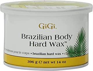 GiGi Tin Brazilian Body Hard Wax 14oz (2 Pack)