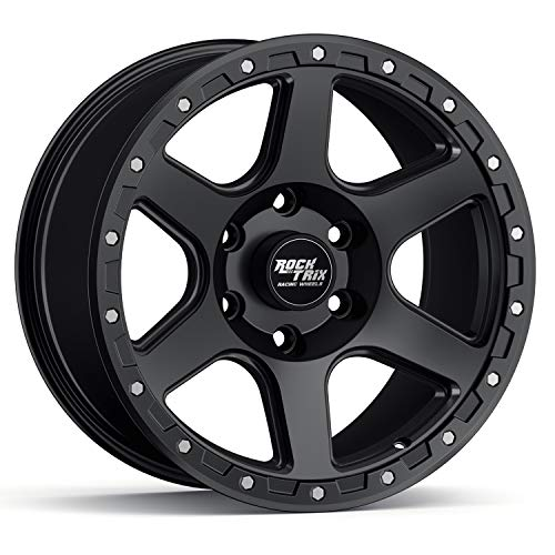 RockTrix RT112 17 inch Wheel Compatible with 01-21 Toyota Tacoma 6x5.5' (6x139.7) Bolt Pattern, 17x9 (-12mm Offset), 106.1mm Bore, Matte Black, Also fits 02-21 4Runner, FJ Cruiser, 99-06 Tundra - 1pc