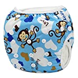 sijueam pañal Bañador Lavado Bar multiusos Baby diapers resistente al agua pañales para Unisex Talla Única Ajustable Bañador leakpr impermeable Deportes acuáticos de baño Mode azul Blauer Affe