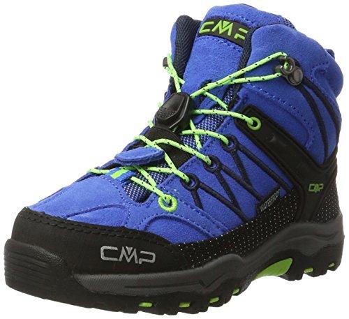 CMP Unisex-Kinder Kids Rigel Mid Shoe Wp Trekking- & Wanderstiefel, Türkis (Royal-Frog), 31 EU