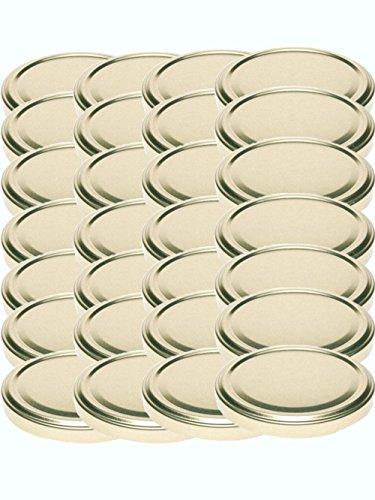 48 Twist-Off-Deckel Verschlüsse Ersatzdeckel Deckel für Sturzgläser To 82 Passend für 230/350 / 435 ml / 565 ml (Gold)