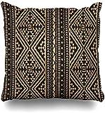 GFGKKGJFD424 Fundas de cojín geométricas étnicas nativas americanas aztecas de 45 cm x 45 cm para sala de estar, sofá, fundas de almohada cuadradas con cierre de cremallera